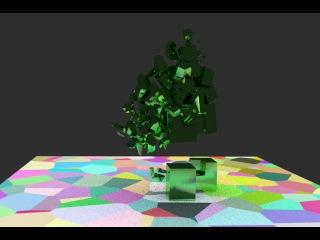 Blender GE+cycles+Voronoi Fracturing_test1